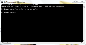 How to hide or unhide a folder using cmd in Windows