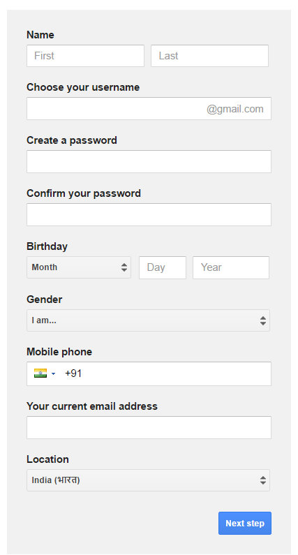 gmail-form