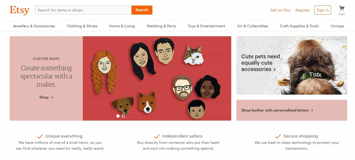 Etsy - Sell Your Crafts Online