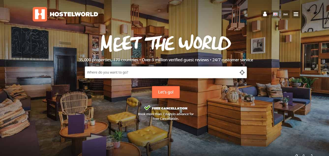 HostelWorld - All world hostels in one place