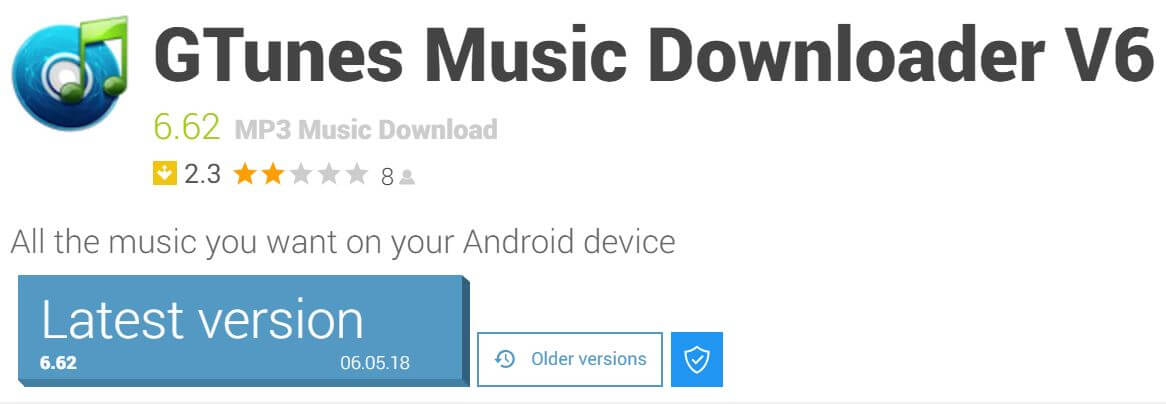 Gtunes free music android app