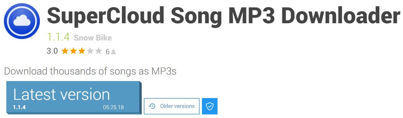 Supercloud mp3 Android App