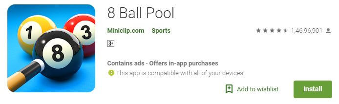 8 Ball pool Multiplayer android game
