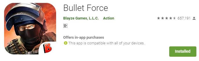 Bullet force Multiplayer android game