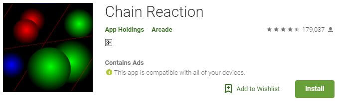 Chain reaction Multiplayer android game