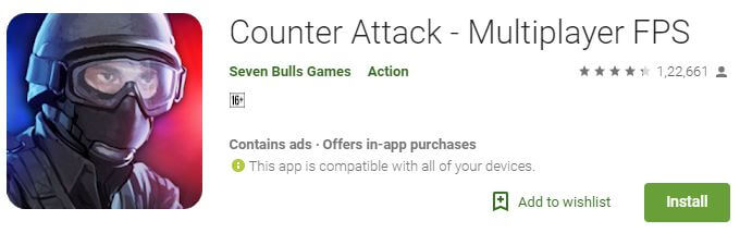 Counter attack Airborne Multiplayer android game