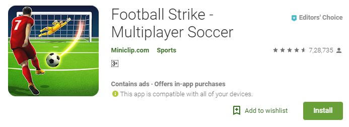 Football strike Multiplayer android game