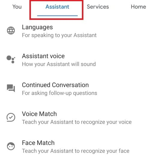 Go to Assistant