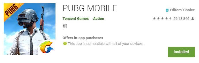 PUBG Multiplayer Android game