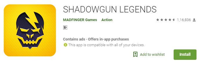Shadow guns Multiplayer android game