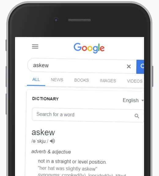 askew Google search easter egg