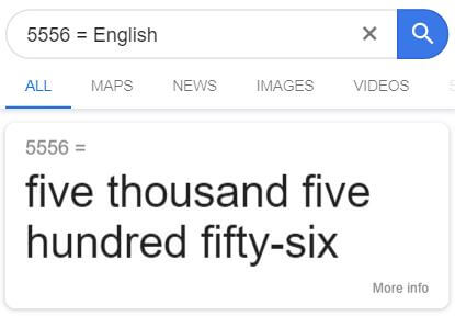 number to english trick