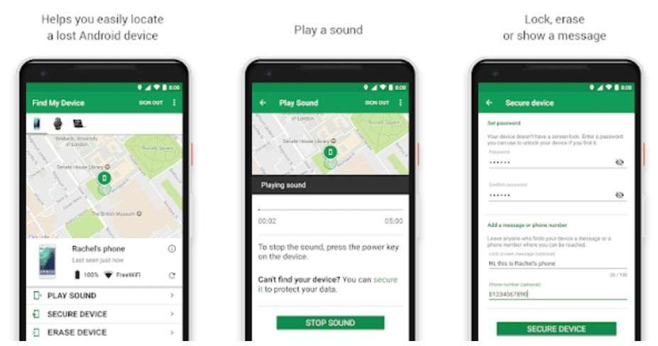 Find my device Android App
