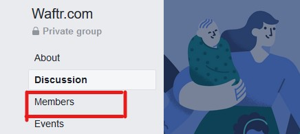 Go to group members section