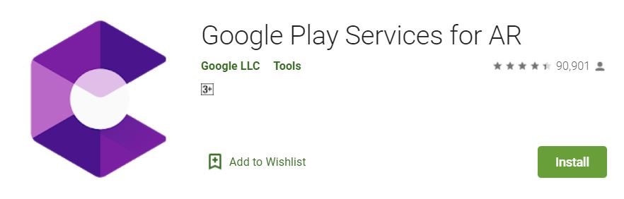 Google Play services for AR