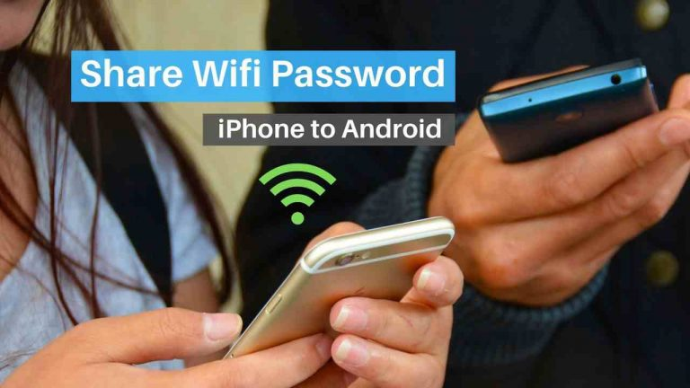 How to share Wifi Password from iPhone to Android