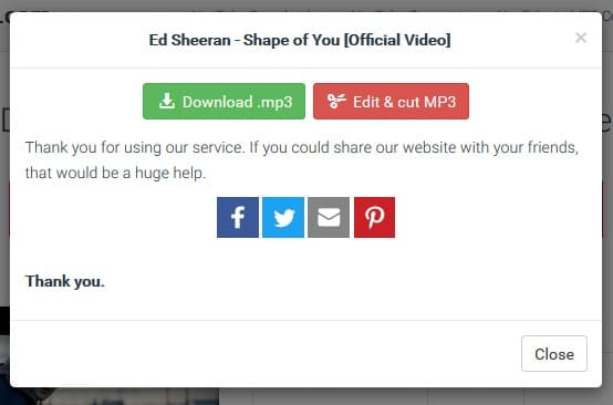 Y2mate download mp3 from YouTube