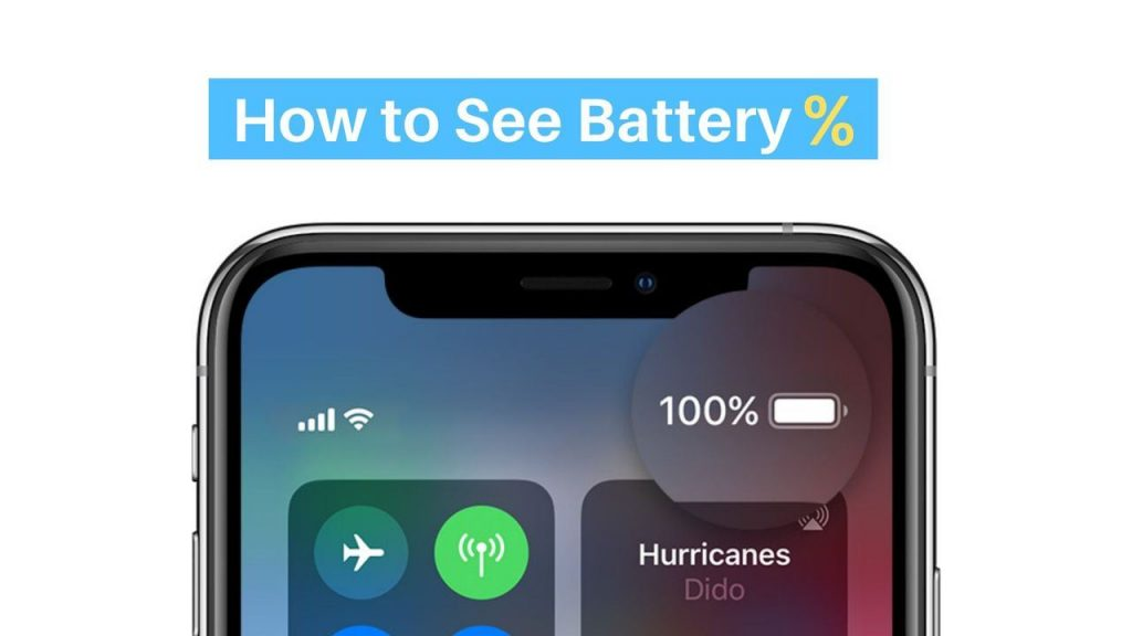 How to show iPhone X 11 %