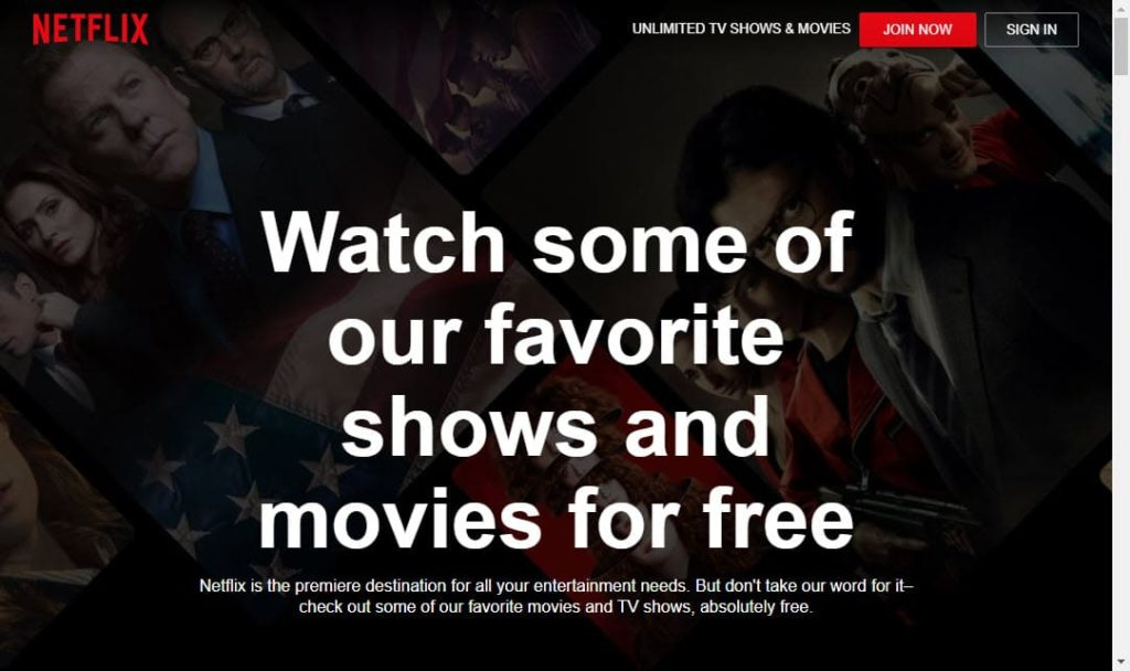 Netflix for free