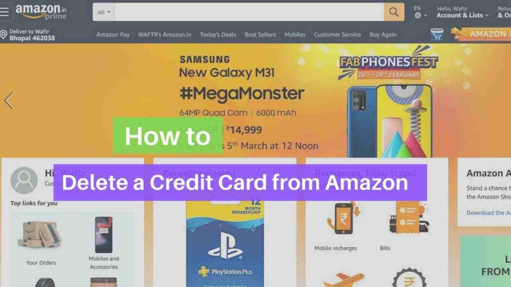 Delete credit card from Amazon