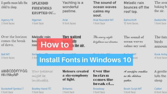 Download fonts in Windows 10