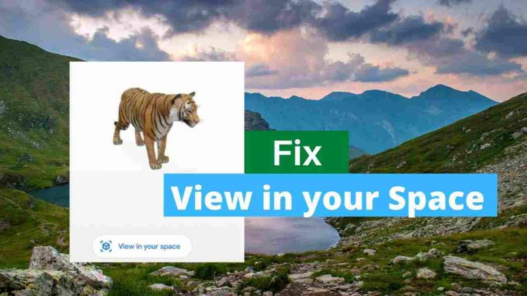 [Fixed] View in Your Space not Working in Google 3D AR