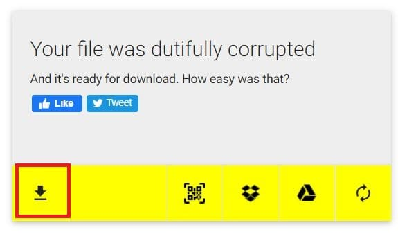 Download corrupted file