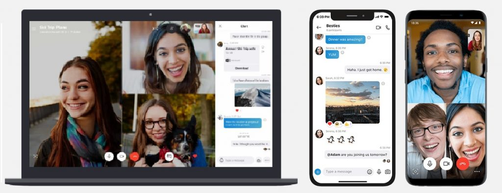 Skype Video calling with friends and Family