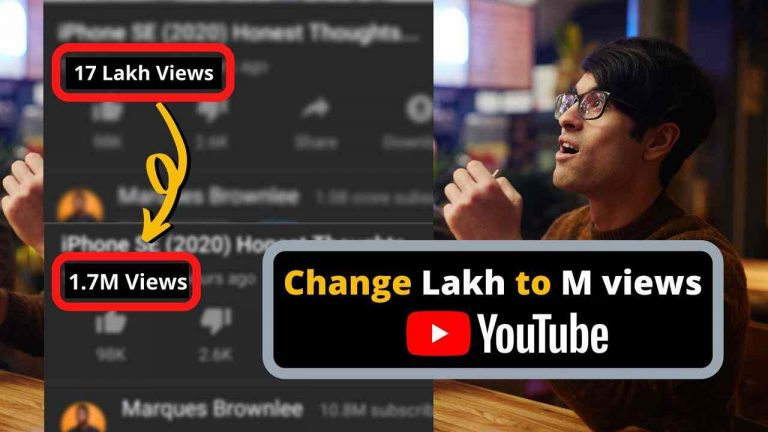 How to Change Lakhs to Million views back on YouTube