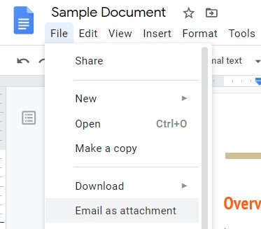 Email PDF as Attachment