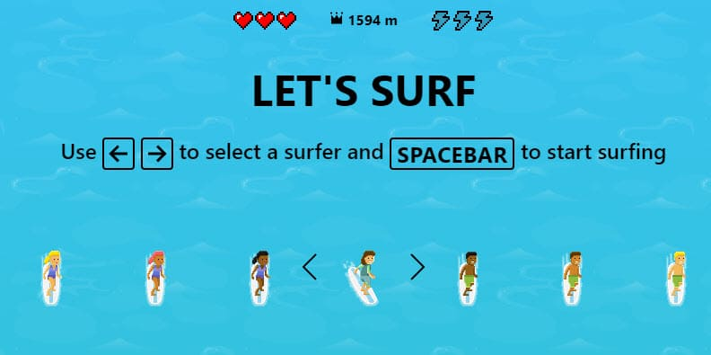 How to play Surf game