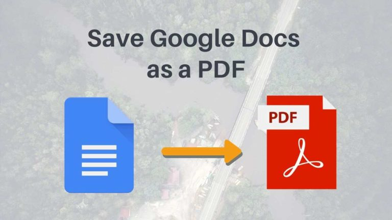 How to Save a Google Doc as a PDF in PC and Mobile