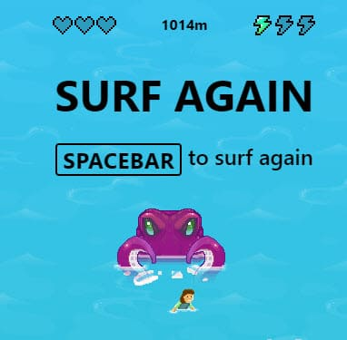 Surf Game Octopus attack