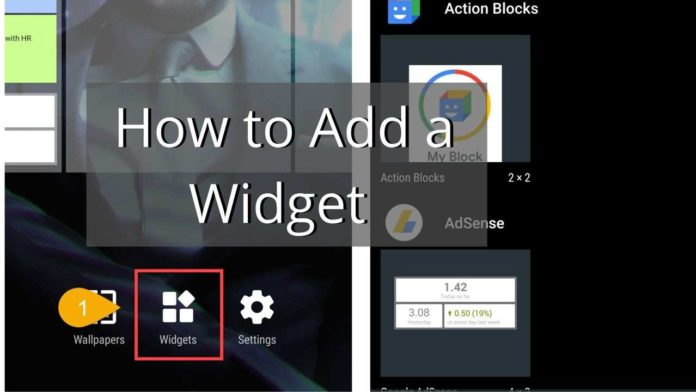 how to add a widget on android