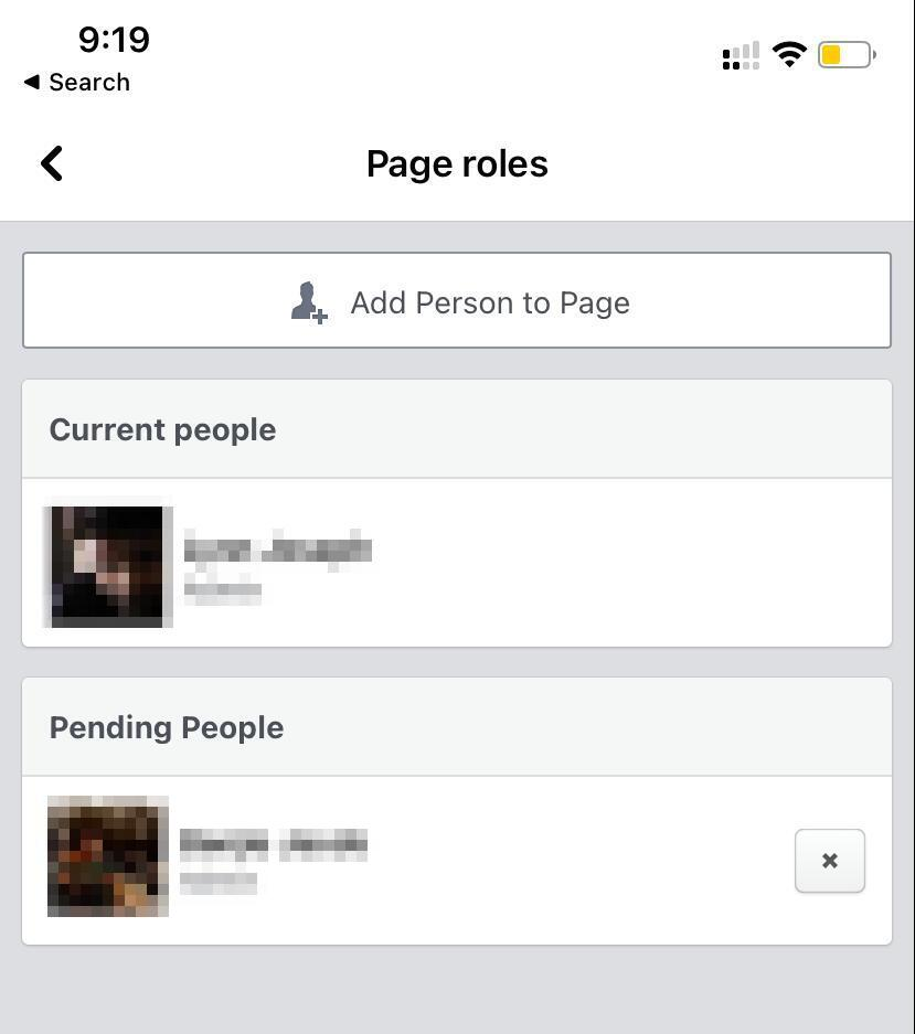 Add person to page