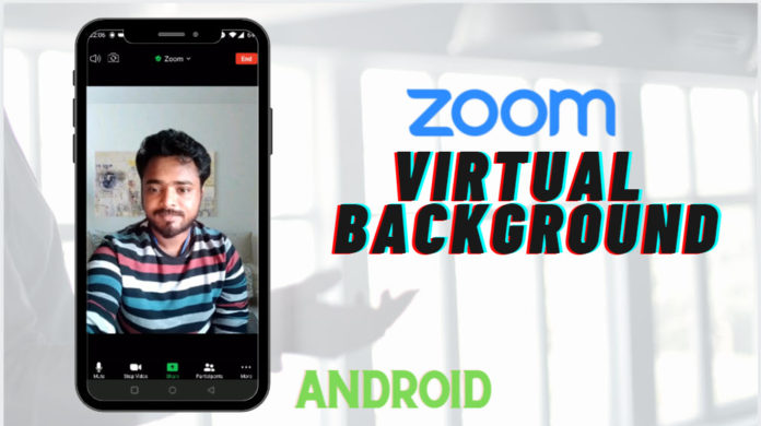 Set virtual background on Zoom Android
