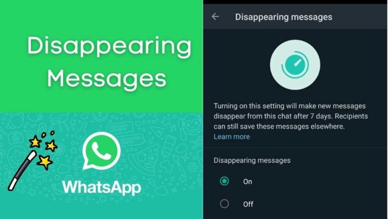 How to send Disappearing WhatsApp Messages
