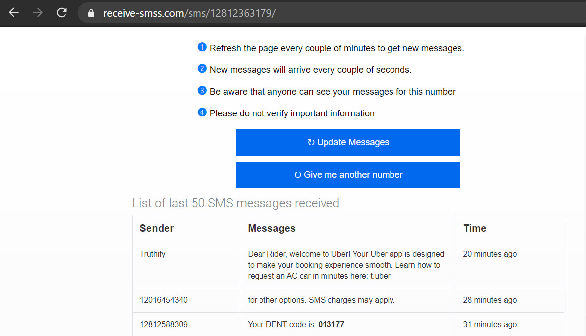 Free SMS OTP to use Signal without phone number
