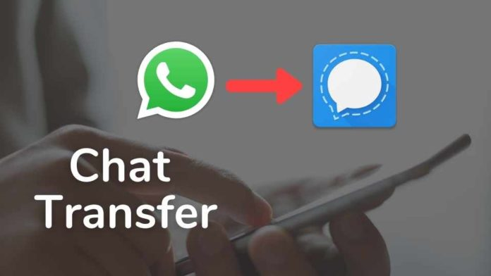 Transfer chat from WhatsApp to Signal