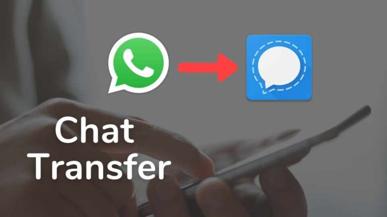 How to Import chats from WhatsApp to Signal