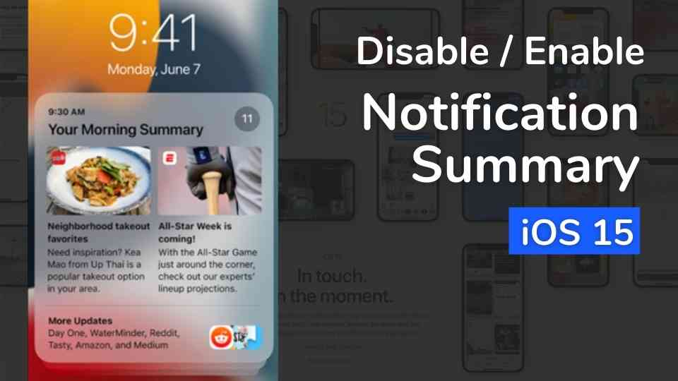 How to Enable Notification Summary