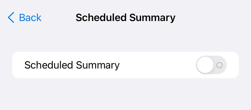 Enable Scheduled Summary