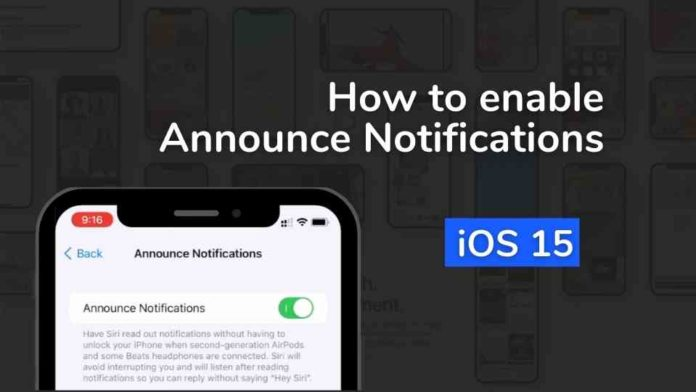 Announce notification on iPhone
