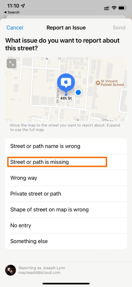 Report about Location
